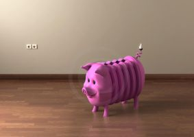 Piggy Bank Radiator by conkrys