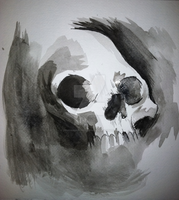 Inkwash Skull by DemonKing-aka-Grim