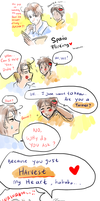 Spain Flirting by aphin123