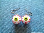 Handmade Polymer Clay Eyeball Earrings! by mattiemazingcharms