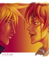 FF7.  Cloud and Rino by jen-and-kris