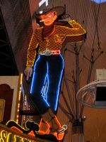 Fremont St Cowboy by jeffrade