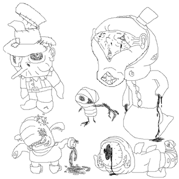 Monster Sketches by GIRGHGH