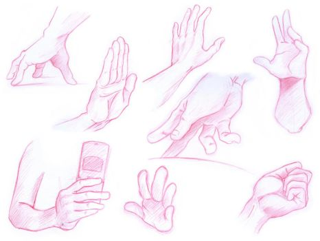 Hand Sketches by 7414