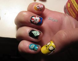Week 23 Adventure Time Nails 2 by WaterLily-Gems