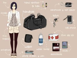 Stuffs In My Bag by TsubasaNoUmi