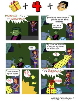 my 1 comic of teen titans by nonafenon