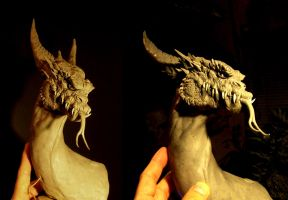 Great Dragon  in-progress sculpture by GabrielxMarquez