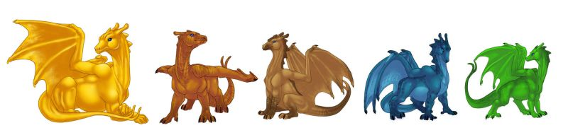 Pern Dragons by bricu