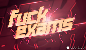 Fuck Exams Party Logo by Mrsheloner