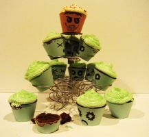 Zombie Cupcakes 1 by Stephanefalies