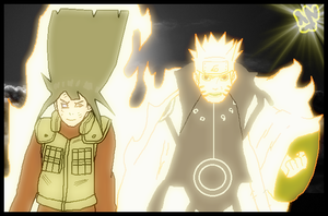 Naruhina holding hands by taladromarplatense