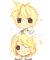 Kagamine Twinss by purpangle177