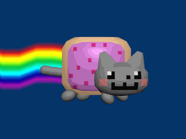 3D Nyan Cat by AnScathMarcach