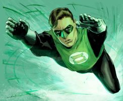Green Lantern Colored by dismang