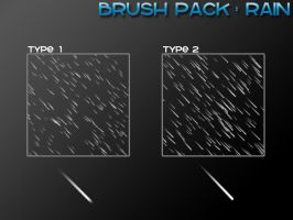Rain - 4 Brushes by PerpetualStudios