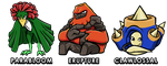 Fakemon Starters: Stage 3 by ProffessorZolo