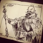 INKtober 2014 #3: King by kshiraj