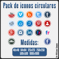 Pack De Iconos Circulares by willithebest1988