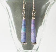 Paper bead Dangle Earings by secrets-of-the-pen