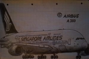AIRBUS A380 Singapore Airlines by stachu96