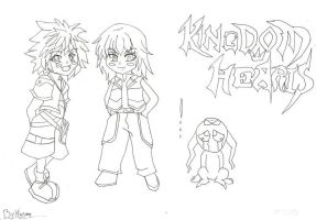 Chibi KingDoM Heart by RubySky21