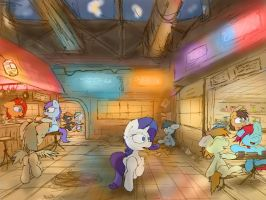 Canterlot Lower District by FuzzyFox11