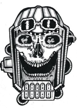 Laughing mechanical skull by Inmate34