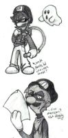 Mr. L HM comic first doodle by angry-green-toast