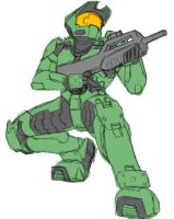 Pchat - Sneaky Master Chief by GuyverC