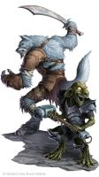 Battle Axe : Wulfir and Goblin by WillOBrien