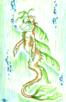 Sea Draggy anthro by Deezmo