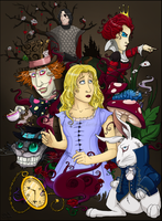 Alice in Wonderland by black-angel1992