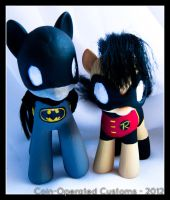 Batpony and Robin by chickygrrl
