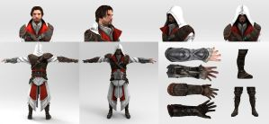 Cosplay Reference - Ezio Auditore (Brotherhood) by LoveStruck2