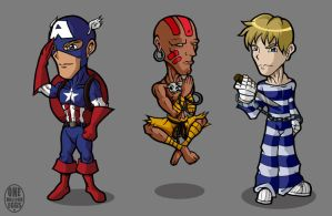 Captain x Dhalsim x Cody by chinaguy16