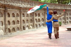 ( APH - Italy brothers ) Wave your flag~! by Felibuuu