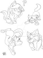 Wolf Link Puppies by MidnightHuntingWolf