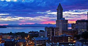 Smith Tower Sunset by ThatFunk