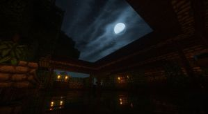 Pool at night by Atomicsickness