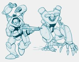 0909 cyberzombie sketches by Pachycrocuta