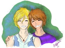 Best Buds pic: Jaq and Tailer by DarkDryad17