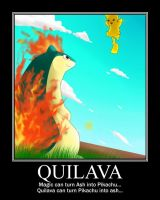 Quilava Motivational Poster by BudCharles