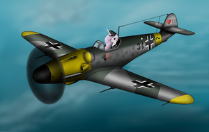 Bf109 and Princess Molestia by Filincool