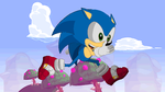 Sonic run animation by HumanNature84