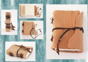Medieval Limp Binding - Mini Tan Journal by Bluelisamh