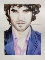 Darren Criss Watercolor by Feyjane