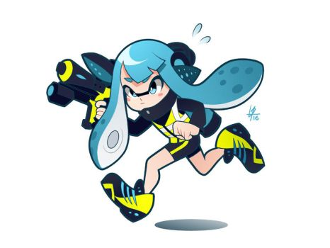 Hero Mode Squiddy by Louistrations