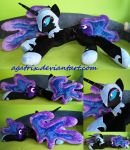 Life size (laying down) Nightmare Moon plush by agatrix