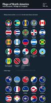 Flags of North America - Flat Icons by BlinVarfi